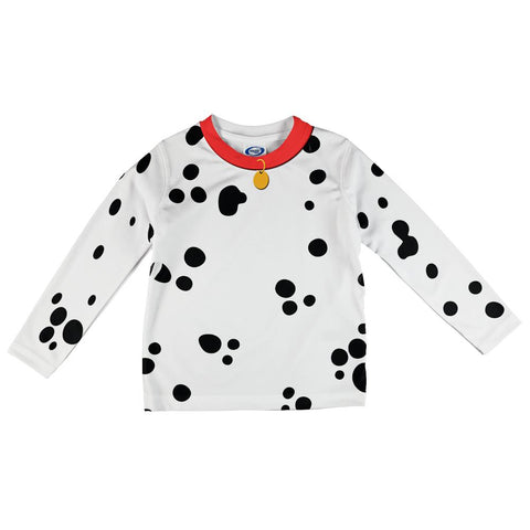 Dog Dalmatian Costume Red Collar All Over Toddler Long Sleeve T Shirt