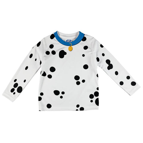 Dog Dalmatian Costume Blue Collar All Over Toddler Long Sleeve T Shirt