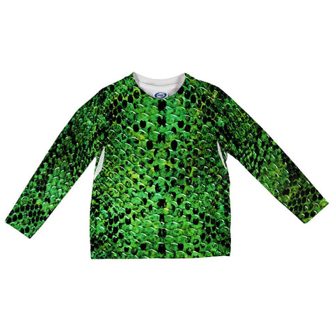 Halloween Green Snake Snakeskin Costume All Over Toddler Long Sleeve T Shirt