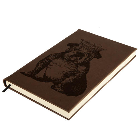 British Bulldog Crown Brown Leatherette Journal