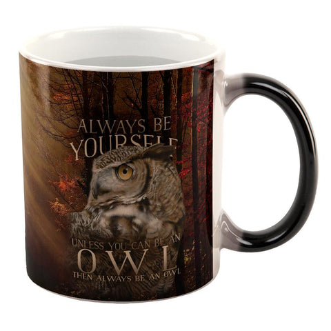 Always Be Yourself Unless Owl All Over Heat Changing Coffee Mug