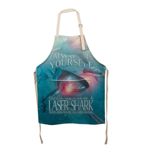 Always Be Yourself Unless Laser Shark All Over Apron