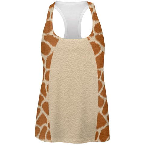 Halloween Giraffe Costume All Over Womens Work Out Tank Top