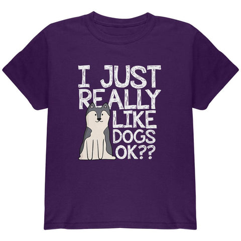 I Just Really Like Dogs Ok Cute Youth T Shirt