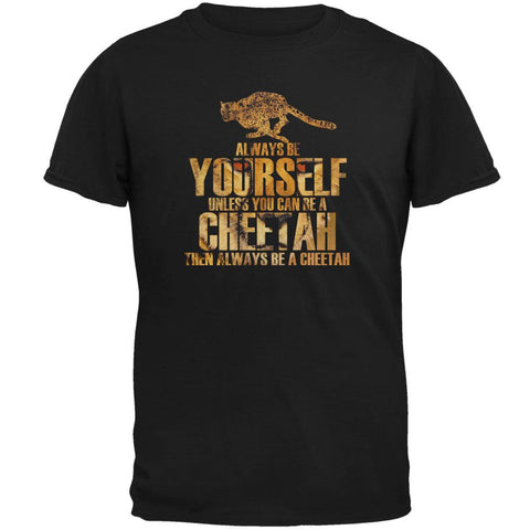 Always Be Yourself Cheetah Mens T Shirt