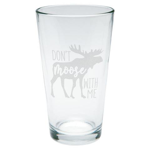 Autumn Don't Moose with Me Etched Pint Glass