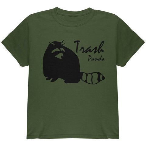 Raccoon Trash Panda Silhouette Youth T Shirt