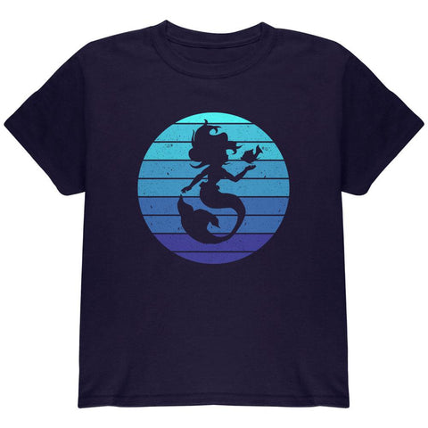 Mermaid Retro Ocean Blues Youth T Shirt