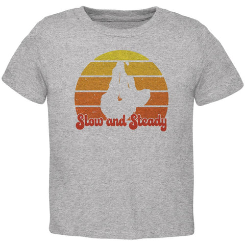 Sloth Slow and Steady Retro Sunset Toddler T Shirt