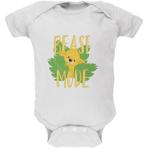 Beast Mode Cute Lion Cub Soft Baby One Piece