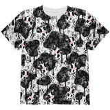 Cute Mad Cow Pattern All Over Youth T Shirt
