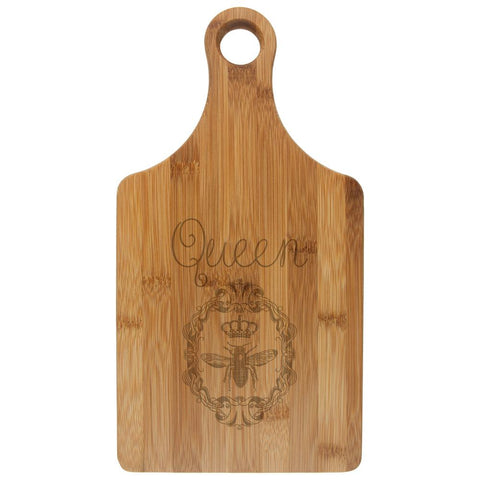 Queen Bee Etched Bamboo Cutting Board