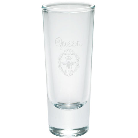 Queen Bee Etched Shot Glass Shooter