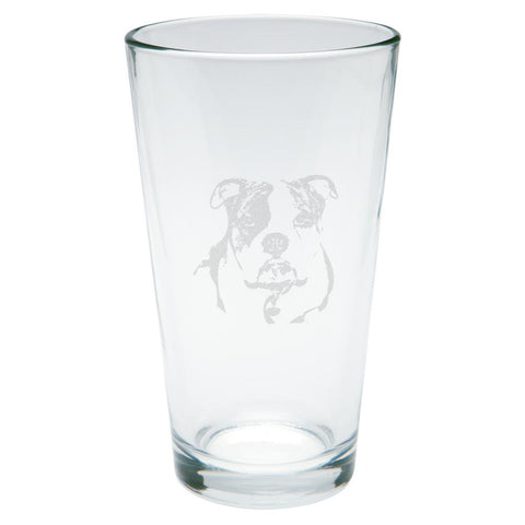 Olde English Bulldog Etched Pint Glass