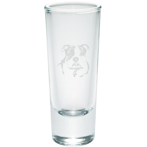 Olde English Bulldog Etched Shot Glass Shooter