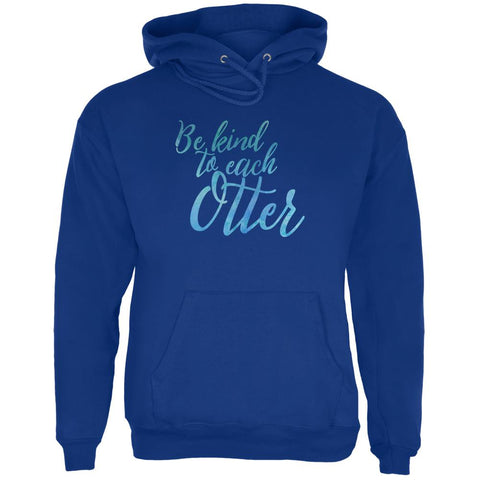 Be Kind to Each Other Otter Pun Mens Hoodie