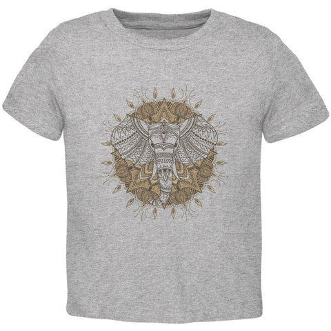 Henna Mandala Elephant Toddler T Shirt