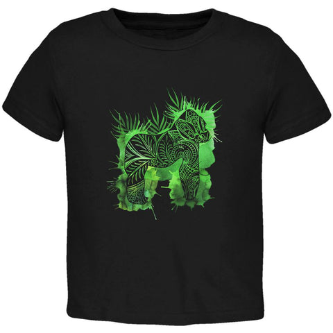 Henna Mountain Gorilla Jungle Splatter Toddler T Shirt