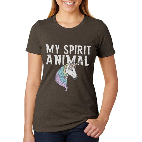 My Spirit Animal Unicorn Juniors Soft Heather T Shirt