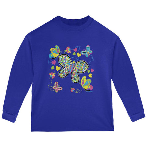 Butterflies Toddler Long Sleeve T Shirt