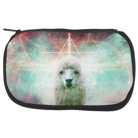 Galaxy Llama of Namaste Tetrahedron Makeup Bag