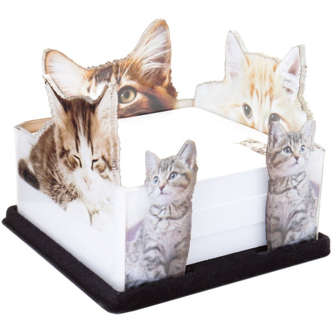 Kittens Looking Cute Acrylic Notepad Holder