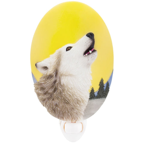 Wolf Howling At The Moon Nightlight