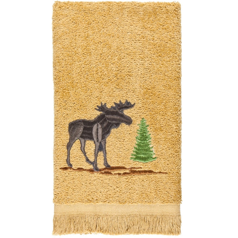Moose in Forest Fingertip Towel