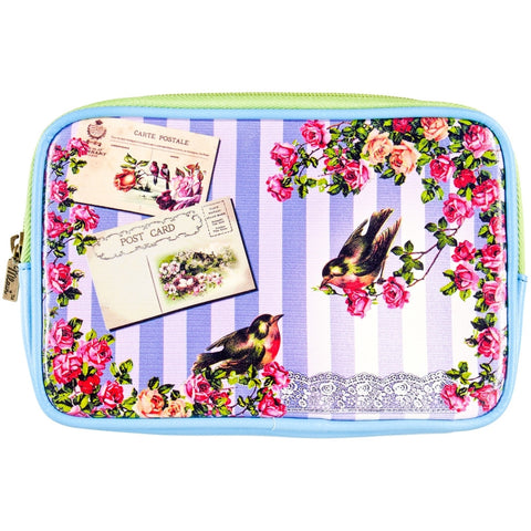 Love Birds Shabby Chic Makeup Bag