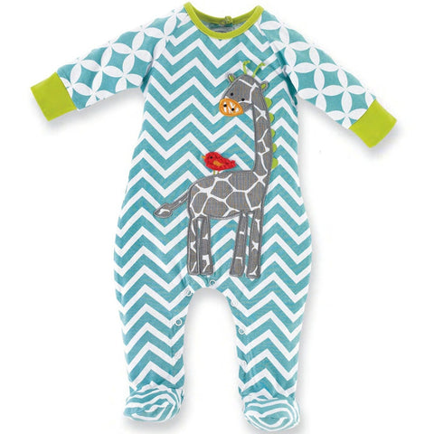 Giraffe Hanging Out Infant One Piece Pajamas