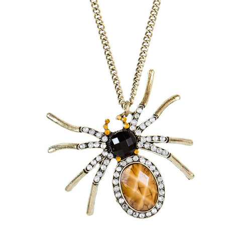 Charlotte Spider Pendant Necklace