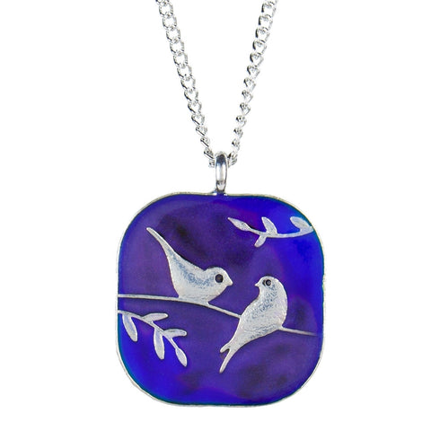 Birds On A Branch Mood Necklace