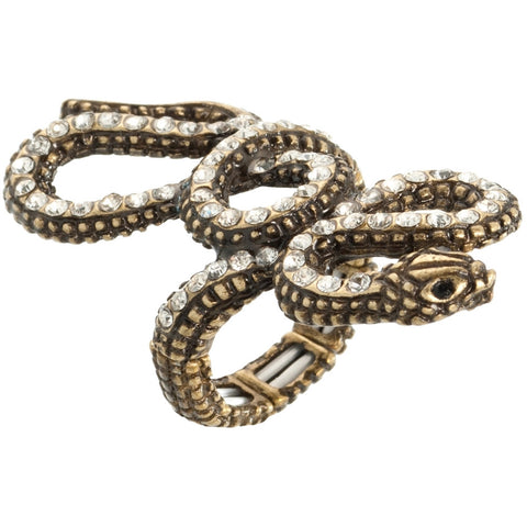 Snake It Til You Make It Stretch Ring