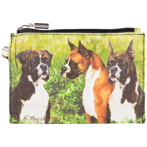 Boxers Standing in Yard Zippered Pouch