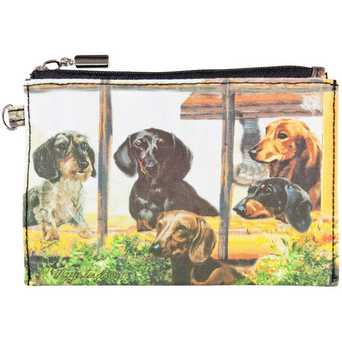 Dachshunds Looking Out Window Zippered Pouch