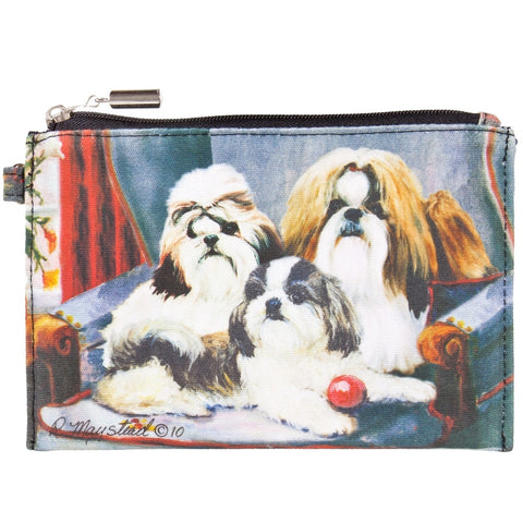 Shih Tzus on a Chair Zippered Pouch