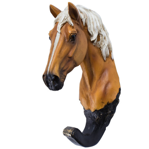 Palomino Horse Head Wall Hook