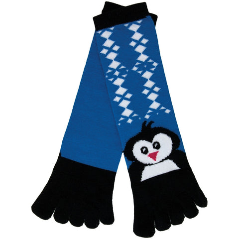 Penguin  Diamond Pattern Women's Toe Socks
