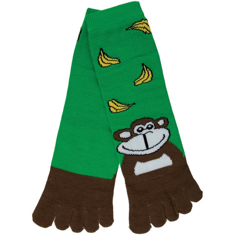 Monkey with Bananas Women's Toe Socks