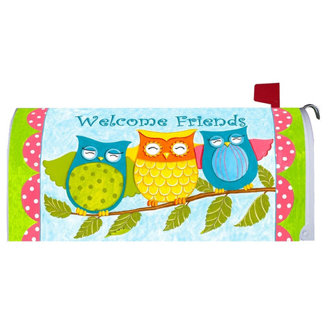 Welcome Friends Owl Mailbox Makeover