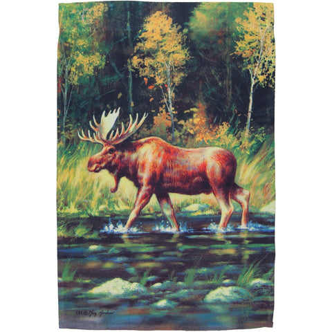 Moose Wading in the Water Mini Flag