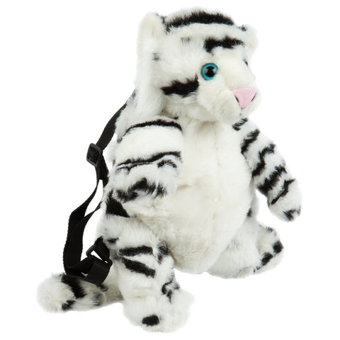 White Tiger Body Plush Backpack
