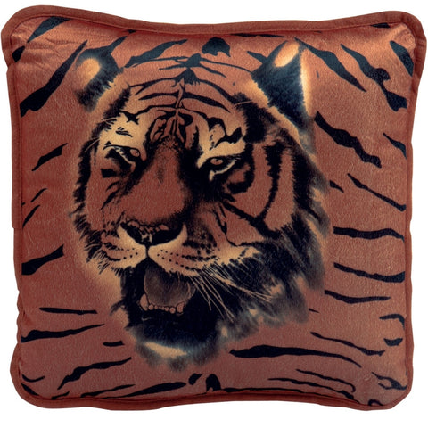 Tiger Face Plush Pillow