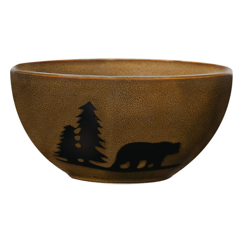 Bear in the Woodlands Stoneware Bowl
