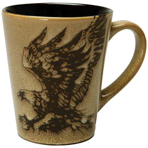 Eagle North American Woodlands Glazed Coffee Mug