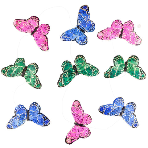 Multi-Colored Royal Butterfly Glitter Garland