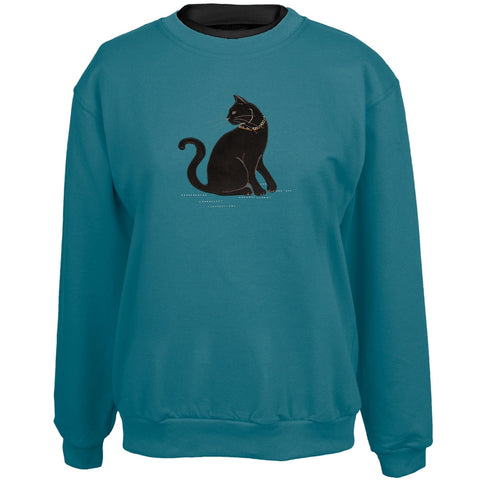 Cat Looking Back Women's Crew Neck Sweatshirt