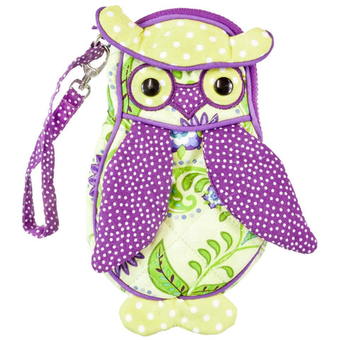 Piccadilly the Owl Soft Plush Wristlet Bag