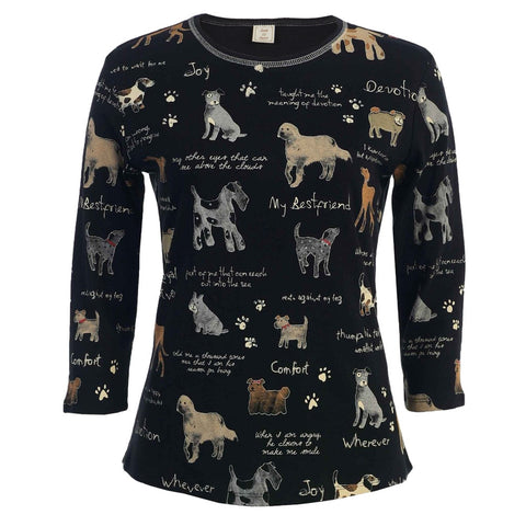 Dogs My Best Friend Collage Women's Long Sleeve T-Shirt