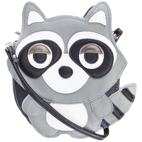 Sleepyville Raccoon Body Vinyl Cross Body Shoulder Bag